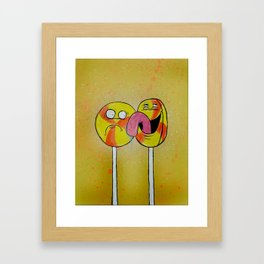 He Does This All the Time Framed Art Print