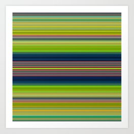 Colorful Stripes Pattern Art Print
