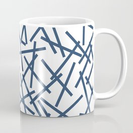 Kerplunk Repeat Navy on White Coffee Mug
