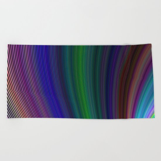 Vivid storm Beach Towel
