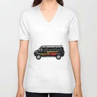 van V-neck T-shirts featuring Classic Van by Eyes Wide Awake