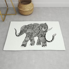 Snakelephant Indian Ink Hand Draw Rug