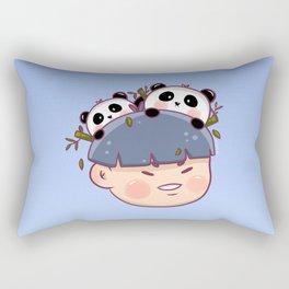 Panda Boy Rectangular Pillow