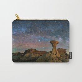 Bisti Badlands Under Western Starry Night Carry-All Pouch