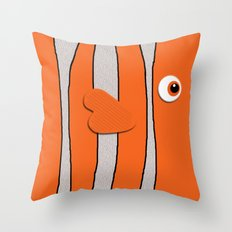 Cute Clown Fish Throw Pillow