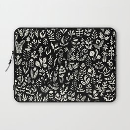 Black and white botanical pattern Laptop Sleeve