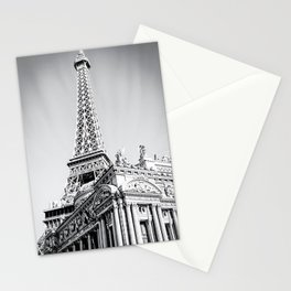 Eiffel tower at Las Vegas, USA in black and white Stationery Cards
