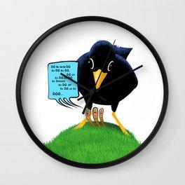 Blackbird with a Chorus Wall Clock