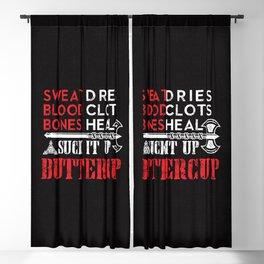 Viking Shirt Suck it up Buttercup Funny Design Blackout Curtain