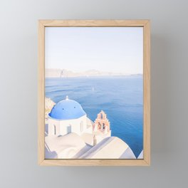 469. Best Photography Spot, Santorini, Greece Framed Mini Art Print