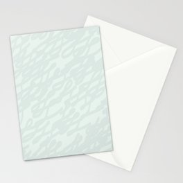 Abstract hand painted pastel green gray brushstrokes Stationery Cards