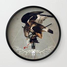 Meme les oiseaux meurent /3 Wall Clock