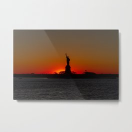 Sun Sets on Liberty Metal Print