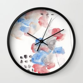 180805 Subtle Confidence 13| Colorful Abstract |Modern Watercolor Art Wall Clock