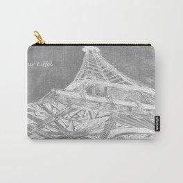 La Tour Eiffel en Noir Carry-All Pouch