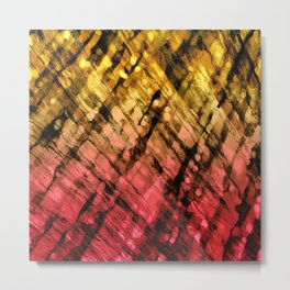 Interwoven, Sunglow Metal Print
