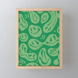 Liquify Money Green Framed Mini Art Print