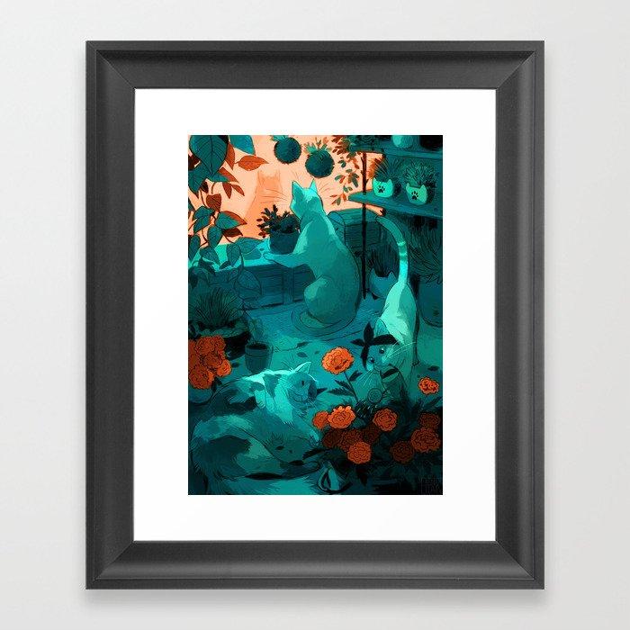Small Flower Framed Art Print