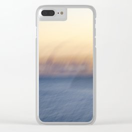 Sunset Ghosts Clear iPhone Case