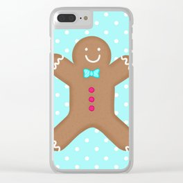 Yummy Gingerbread Man Cookie Clear iPhone Case