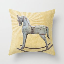 Vintage rocking horse - Toy Photography #Society6 Throw Pillow
