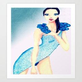fascinating girl Art Print