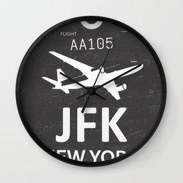 JFK Airport code New York USA Wall Clock