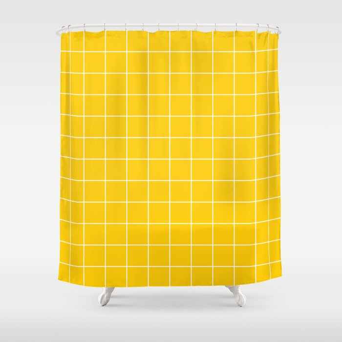 Sunshine Grid Shower Curtain By Circa78designs