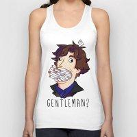 gentleman Tank Tops featuring Gentleman by M-chi