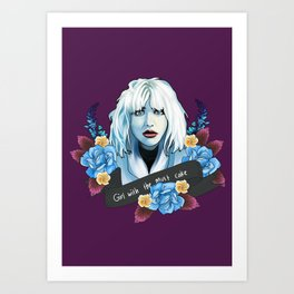 Courtney Love is the girl with the cake Art Print