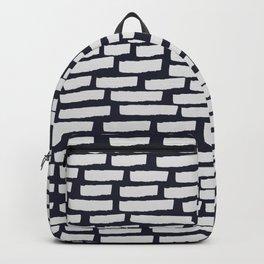 Light Grey Strokes on Dark Blue Backpack