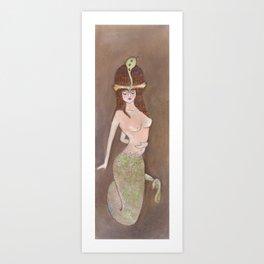 Manasa, The Serpent Queen Art Print