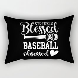 Baseball Baseball Bat Baseball Player Rectangular Pillow