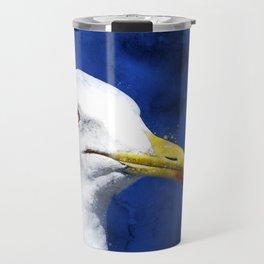 gull, head, portrait Travel Mug
