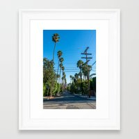 los angeles Framed Art Prints featuring Los Angeles by Luke Callow