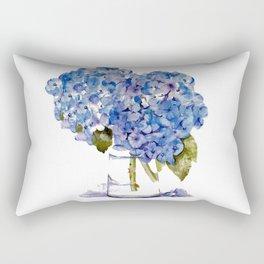 Cape Cod Hydrangea Large Canvas Rectangular Pillow