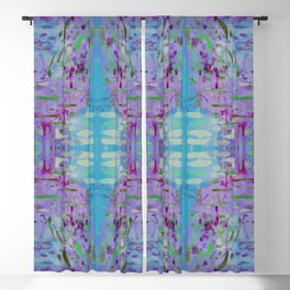 Purple Watercolor Tapestry Blackout Curtain