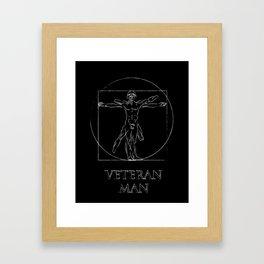 Veteran Man Framed Art Print