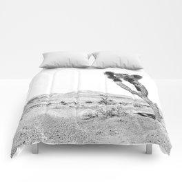 Vintage Desert Scape B&W // Cactus Nature Summer Sun Landscape Black and White Photography Comforters