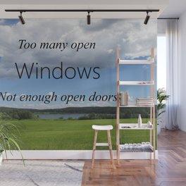 Too Many Windows Wall Mural