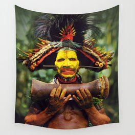 Papua New Guinea Chief Wall Tapestry