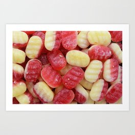Rhubarb and custard sweets Art Print