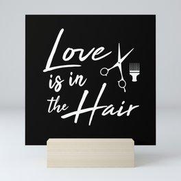 Love is in the Hair Mini Art Print