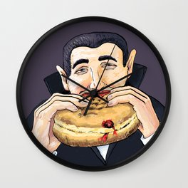 Dracula's Indulgence Wall Clock