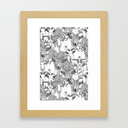 just goats black white Framed Art Print