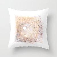 furry Throw Pillows featuring Furry by made by nini
