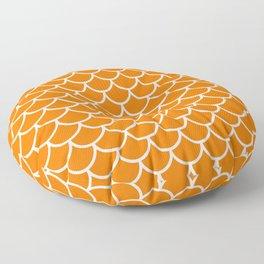 Orange fish scales pattern Floor Pillow