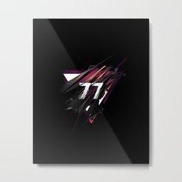 77 Metal Print