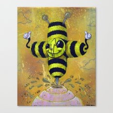 Bee Positive Canvas Print