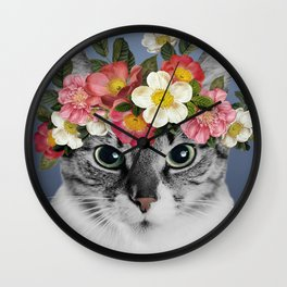 Hippie Cat 1 Wall Clock